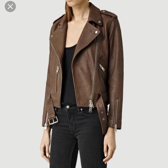6069879ae ALLSAINTS Balfern Leather Jacket NWT